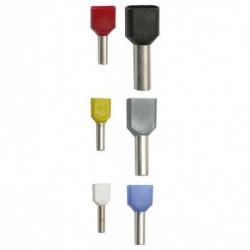 PINI TERMINALI IZOLATI 2x1,5mm2 L 16mm ROSU (punga 200buc)
