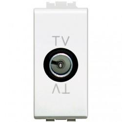 LIGHT- PRIZA TV TRECERE, MODULARA, 1M, ALB