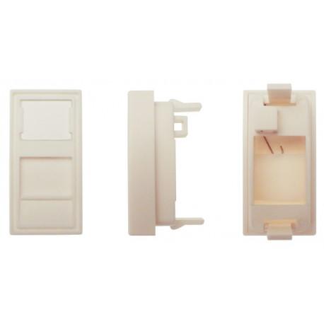 DIGITUS Faceplate pt. Conectori Keystone 22.5x45 mm, protectie praf, culoare pure white, standard 45x45