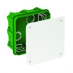 Modulo Doza de conexiuni patrata verde 100X100X50
