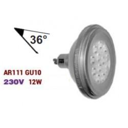 BEC AR111 GU10 CU 12LED 12W 230V L.RECE