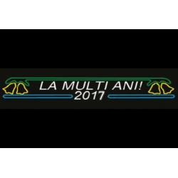 """BANNER 6 LED """" LA MULTI ANI 2016""""  LXH 4 X 0,6 M"""